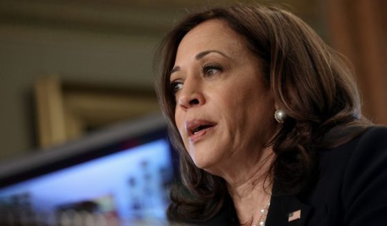 Vice President Kamala Harris speaks during a meeting with members of the Congressional Hispanic Caucus on Monday in Washington, D.C.