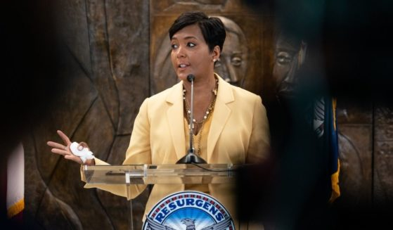 Atlanta Mayor Keisha Lance Bottoms announces that she will not seek re-election at a press conference at City Hall on Friday in Atlanta.