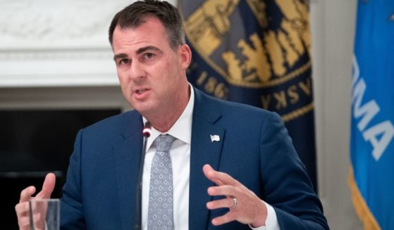 Republican Oklahoma Gov. Kevin Stitt speaks during a roundtable discussion in the State Dining Room of the White House in Washington, D.C., on June 18, 2020.