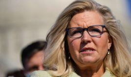 House Republican Conference Chairwoman Liz Cheney speaks during a news conference outside the U.S. Capitol in Washington on March 11.