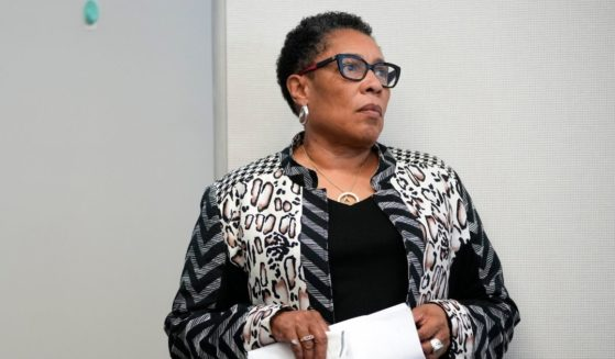 Secretary of Housing and Urban Development Marcia Fudge waits to speak at Community of Hope, a community heath center, on May 5, 2021, in Washington, D.C.