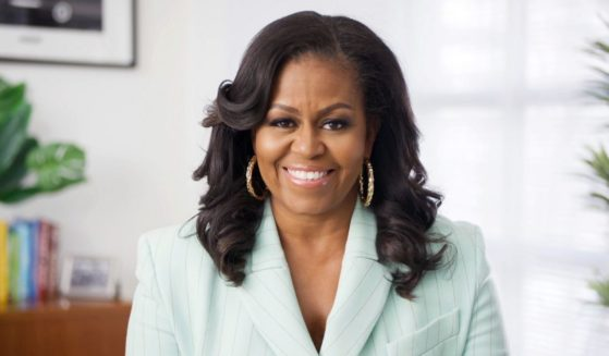 In this screen shot, Michelle Obama presents the Social Justice Impact Award during the 52nd NAACP Image Awards on March 27, 2021.