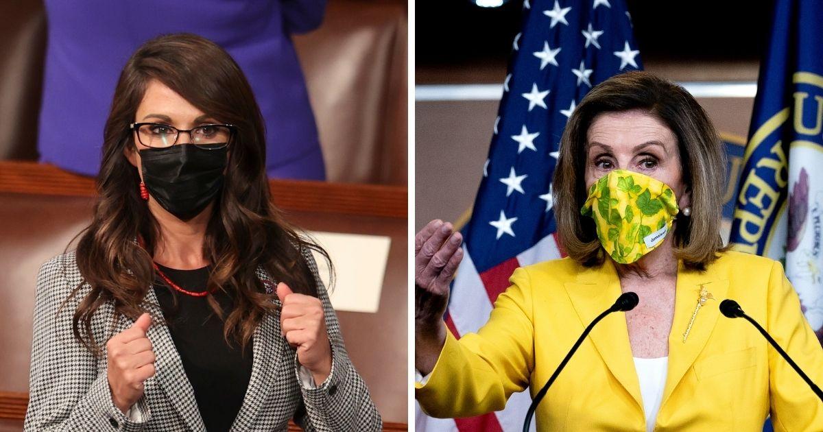 Republican Rep. Lauren Boebert of Colorado sent Democratic Speaker of the House Nancy Pelosi of California a letter, urging her to take down the mask mandates.