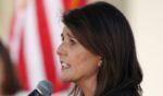 Former U.N. Ambassador Nikki Haley speaks on Oct. 12, 2020, in Scottsdale, Arizona.
