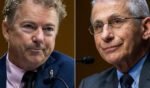 Republican Sen. Rand Paul, left, questions Dr. Anthony Fauci, right, director of the National Institute of Allergy and Infectious Diseases, during a hearing on efforts to combat COVID-19 in the Dirksen Senate Office Building in Washington on May 11.