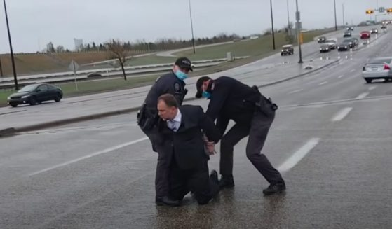 Calgary, Alberta, Pastor Artur Pawlowski is arrested Saturday.