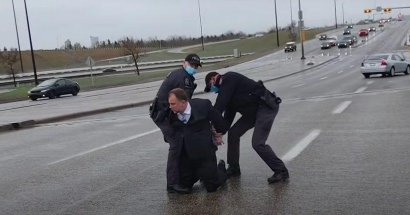 Calgary, Alberta, Pastor Artur Pawlowski is arrested Saturday.