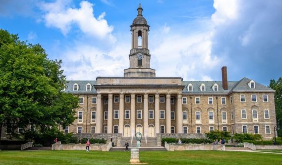 The Old Main building on the campus of Penn State University in State College, Pennsylvania, is pictured above.