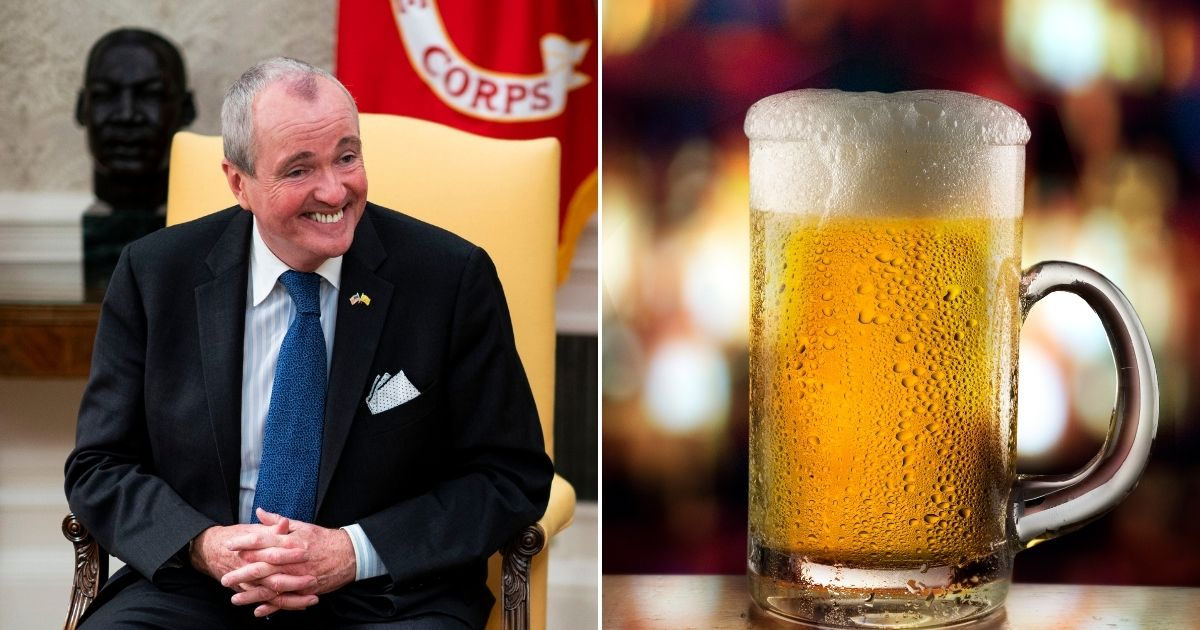 """New Jersey, led by Democratic Gov. Phil Murphy, left, has launched its new """"Shot and a Beer"""" program as a way of encouraging Garden State residents 21 and older to get vaccinated against COVID-19."""