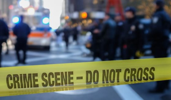 The above stock photo shows a police crime scene.
