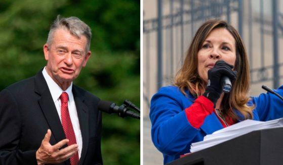 Republican Gov. Brad Little denounced Lt. Gov. Janice McGeachin's mask mandate in the state of Idaho.