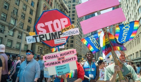 The Queer Liberation March and Rally is seen in New York City on June 30, 2019.