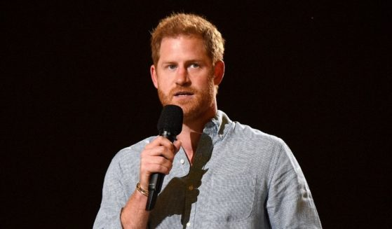 In this image released on May 2, Prince Harry, The Duke of Sussex speaks onstage during Global Citizen VAX LIVE: The Concert To Reunite The World at SoFi Stadium in Inglewood, California.