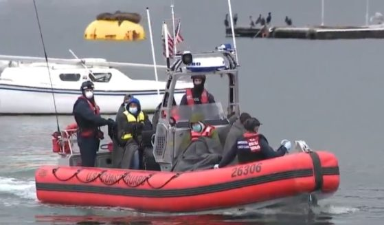 A Coast Guard boat carries some of the illegal immigrants rescued from a panga off the California coast.