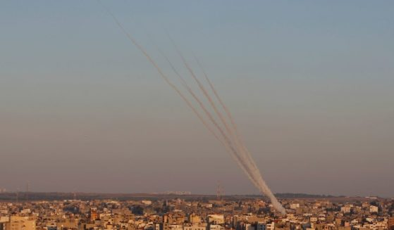 Rockets are launched from Gaza Strip to Israel on Friday.