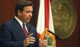 Florida Gov. Ron DeSantis speaks during his State of the State address at the Capitol in Tallahassee on March 2.