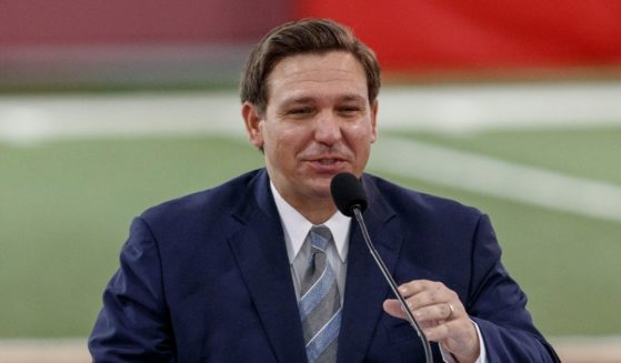 Florida Gov. Ron DeSantis speaks during a collegiate athletics roundtable about fall sports at the Albert J. Dunlap Athletic Training Facility on the campus of Florida State University on Aug. 11, 2020, in Tallahassee, Florida.