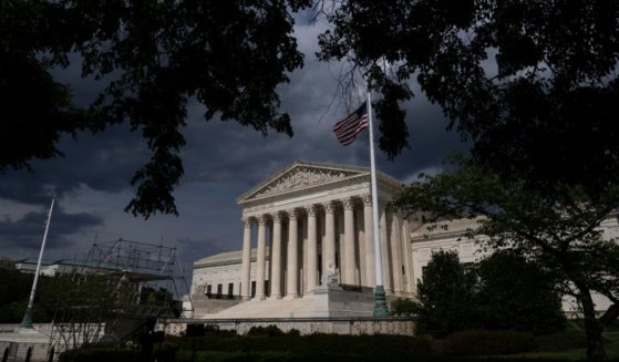 Clouds are seen above The U.S. Supreme Court building on Tuesday in Washington, D.C.