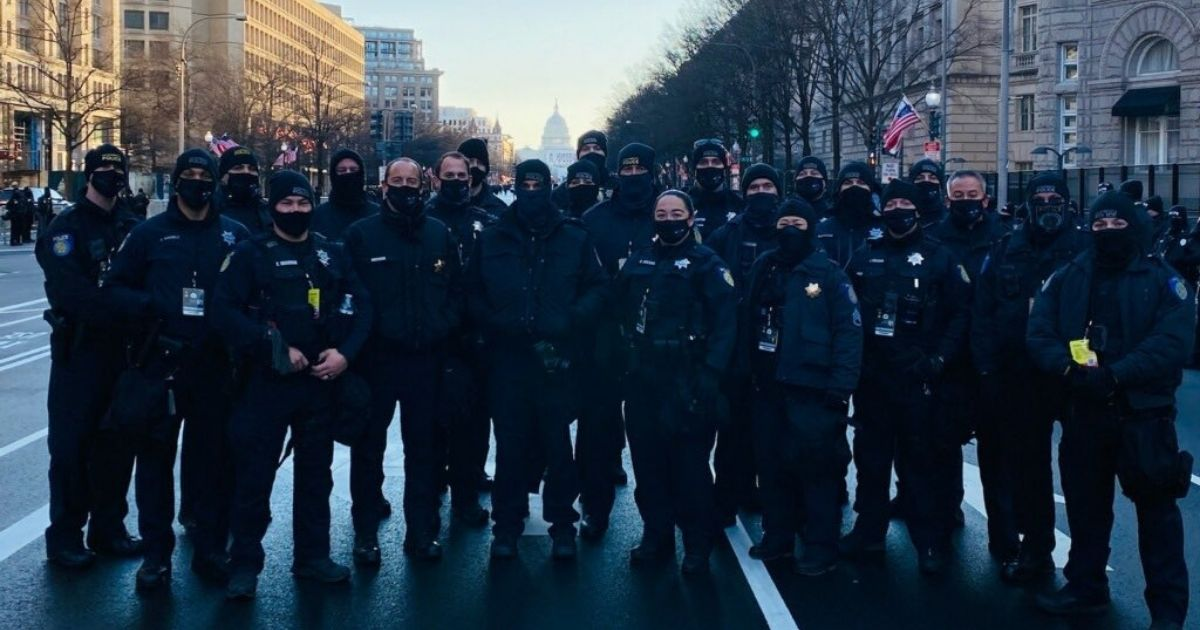 The city of Sacramento is looking to increase police spending by almost six percent. The above photo shows police officers of the Sacramento Police.