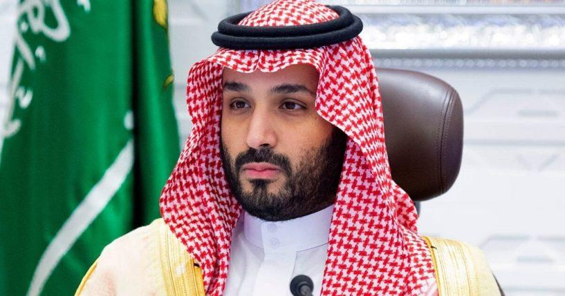 Saudi Crown Prince Mohammed bin Salman attends a virtual G-20 summit in Riyadh, Saudi Arabia, on Nov. 22.