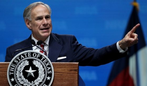 Texas Gov. Greg Abbott speaks at the NRA-ILA Leadership Forum during the NRA meeting at the Kay Bailey Hutchison Convention Center in Dallas on May 4, 2018.