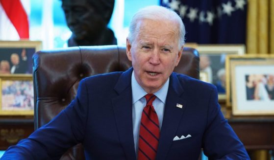 President Joe Biden speaks before signing executive orders on health care in the Oval Office of the White House in Washington on Jan. 28.