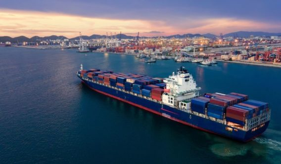 In this stock photo, a cargo ship sits in the Port of Thailand. In April 2021, a Syrian sailor who had spent four years on a ship off the Egyptian coast finally was freed.