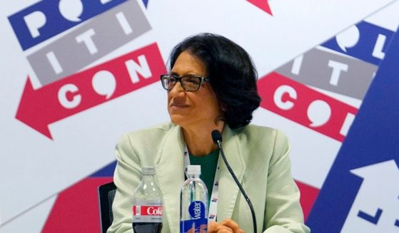 Washington Post columnist Jennifer Rubin, pictured onstage at the 2019 Politicon gathering in Nashville.