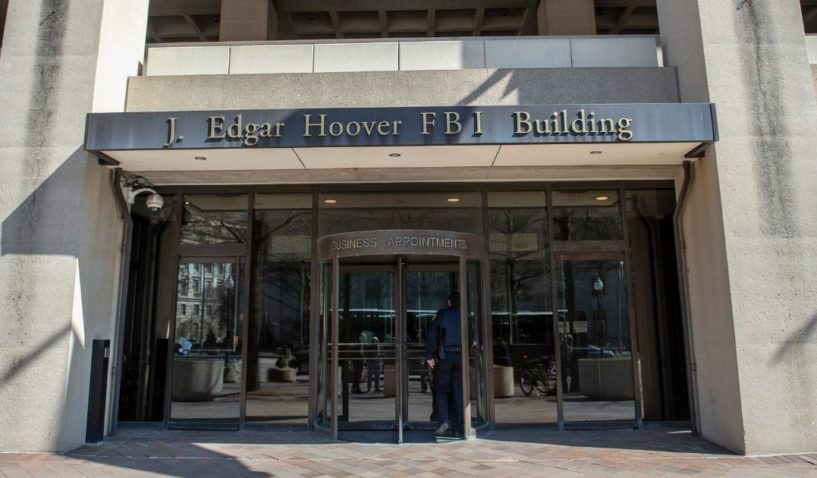 The J. Edgar Hoover Building in Washington, headquarters of the Federal Bureau of Investigation, is pictured in a 2019 file photo.
