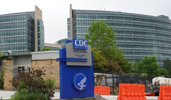The Centers for Disease Control headquarters in Atlanta are pictured in an April 2020 file photo.