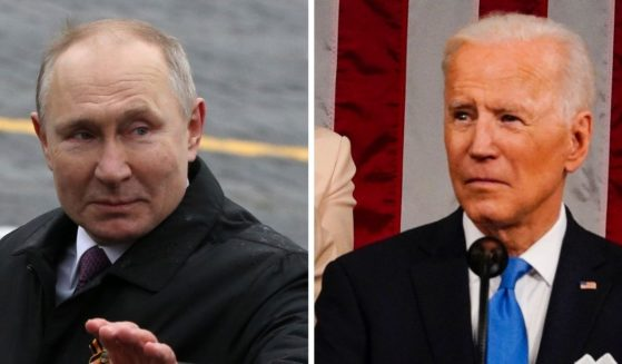 Russian President Vladimir Putin, left; and President Joe Biden, right.