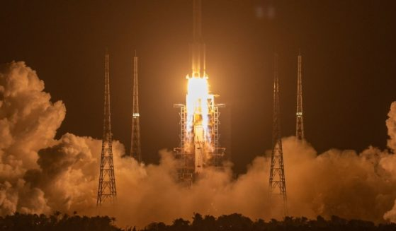 A Long March 5 rocket carrying a lunar mission lifts off at the Wenchang Space Launch Center in southern China on Nov. 24, 2020. China has launched rockets with apparent knowledge that rocket boosters could plummet onto populated regions.