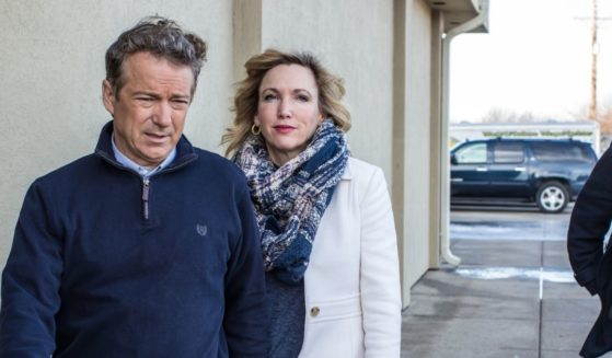 Kentucky Sen. Rand Paul and his wife, Kelley, are pictured in a file photo from 2016.