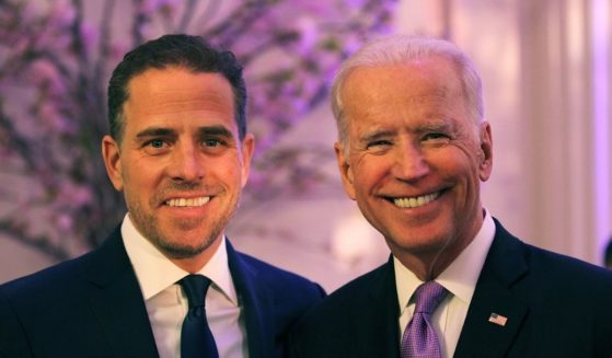 Hunter Biden, left, and then-Vice President Joe Biden are pictured in a 2016 file photo.