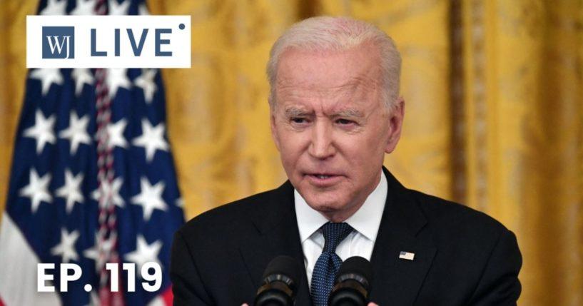 President Joe Biden speaks in the East Room of the White House in Washington, D.C., on Thursday.