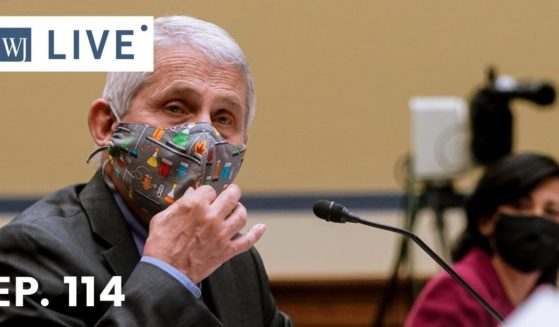 Dr. Anthony Fauci testifies at a House Select Subcommittee on the Coronavirus Crisis hearing on April 15, 2021, on Capitol Hill in Washington, D.C.