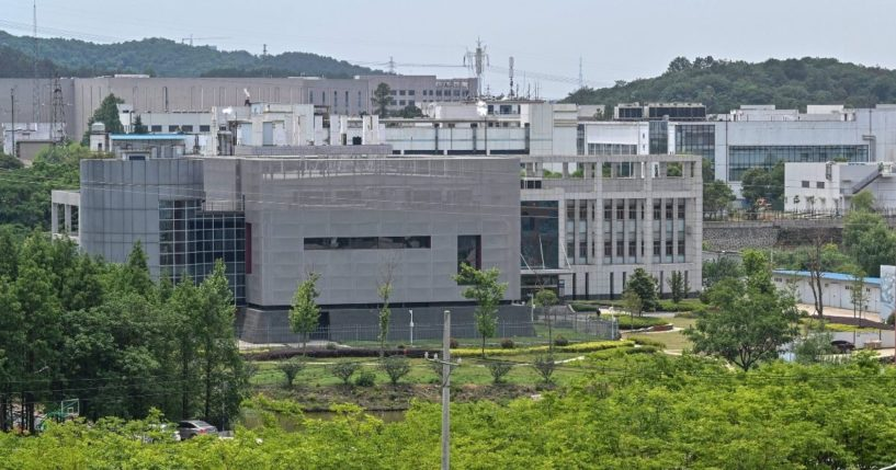 The view shows the P4 laboratory building at the Wuhan Institute of Virology in Wuhan in China's central Hubei province on May 13, 2020.