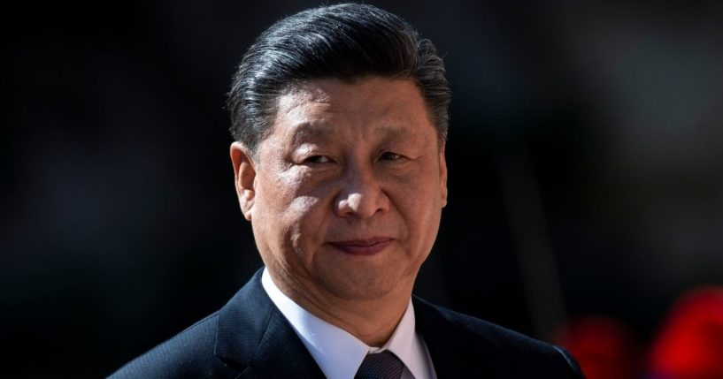 Chinese President Xi Jinping looks on before a meeting to sign trade agreements on its Belt and Road Initiative in Rome on March 23, 2019.