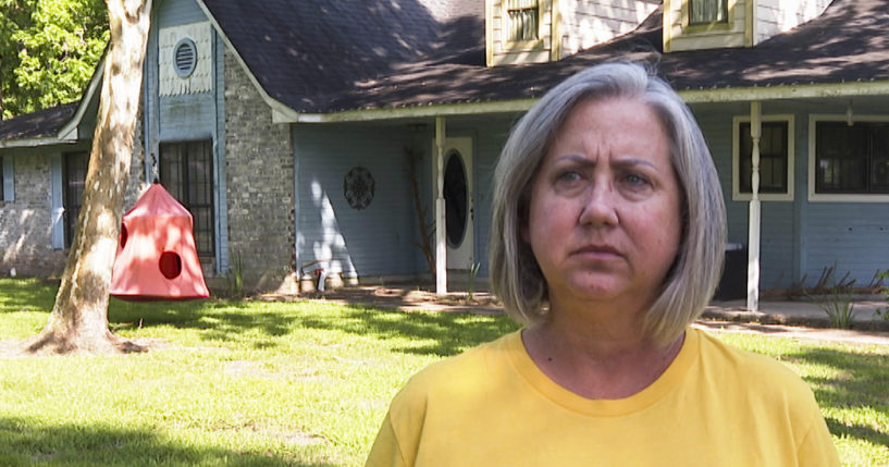 Laurie Fields, who lives in Forest Manor subdivision, speaks during an interview outside her Huffman, Texas, home on May 10, 2021.