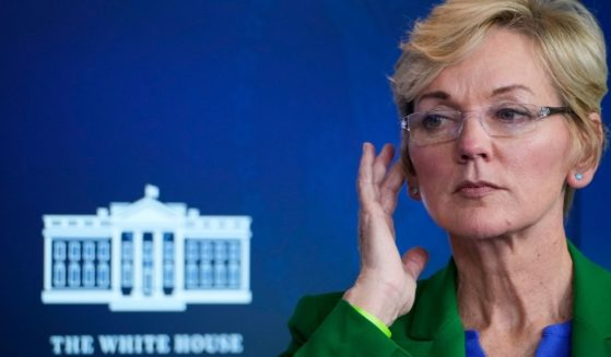 Secretary of Energy Jennifer Granholm speaks during a press briefing at the White House on Tuesday in Washington, D.C.