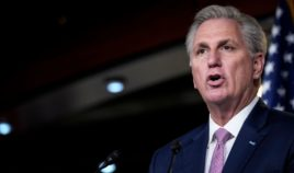House Minority Leader Kevin McCarthy of California speaks during his weekly news conference at the U.S. Capitol on April 22, 2021, in Washington, D.C.