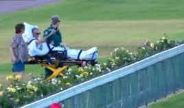 Nigel Latham, 58, had only days to live, but paramedics made his final wish come true when they took him to the races one last time.