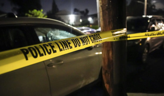 Police respond to a fatal shooting at a house in Portland, Oregon, on June 6, 2021.