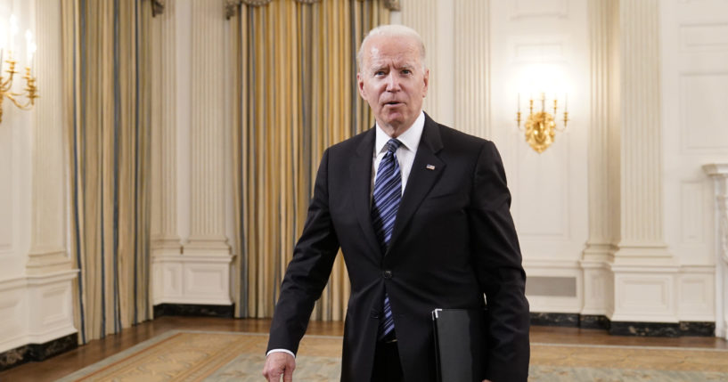 President Joe Biden leaves after an event at the White House in Washington, D.C., on Wednesday.