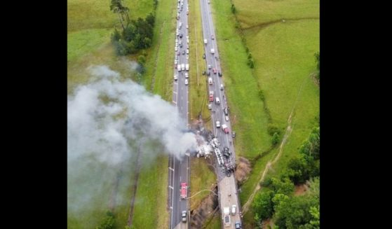 A dozen vehicles were involved in a major crash on Interstate 65 in Greenville, Alabama.