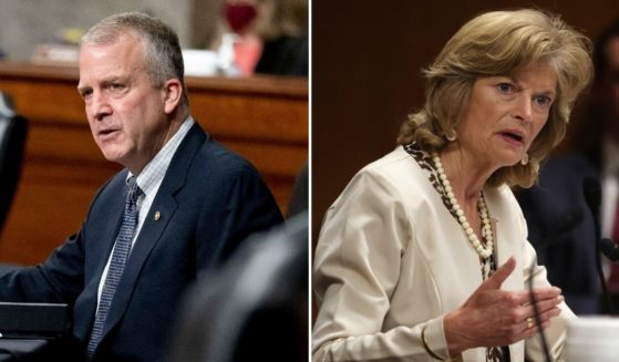 Alaska Republican Sens. Dan Sullivan, left, and Lisa Murkowski, right, expressed disappointment in the Biden administration's decision to suspend leases for oil exploration.