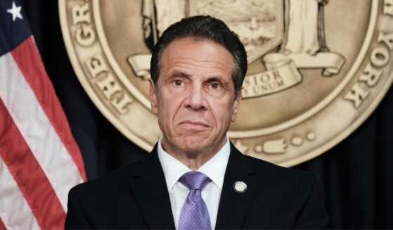 Democratic New York Gov. Andrew Cuomo speaks to the media at a news conference in Manhattan on May 5, 2021, in New York City.