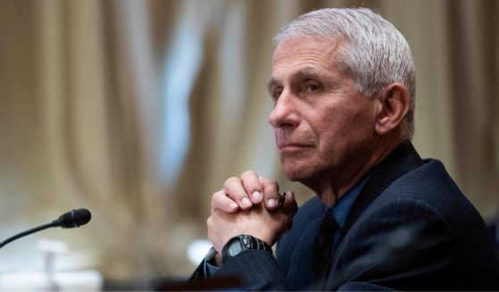 Dr. Anthony Fauci, director of the National Institute of Allergy and Infectious Diseases, listens during a hearing on Capitol Hill in Washington, D.C., on Wednesday.