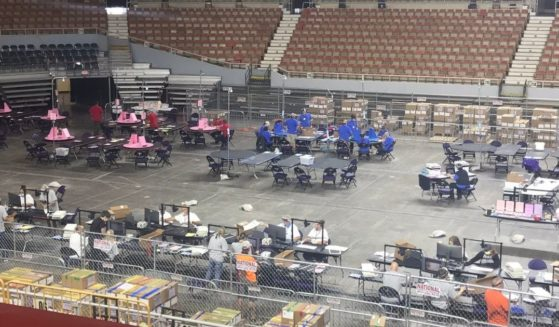 The Maricopa County, Arizona, audit team reported on Tuesday that the hand count of the 2.1 million ballots cast in November's general election is almost complete.