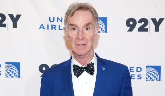 """Bill Nye poses before """"National Geographic's Cosmos: Possible Worlds"""": a screening and conversation with Neil deGrasse Tyson and Bill Nye at 92Y on March 9, 2020, in New York City."""